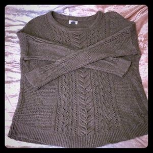 Old Navy women's size L taupe cableknit sweater